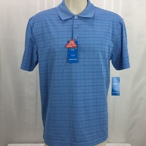 Haggar Medium Cool 18 Pro Polo Shirt Short Sleeve